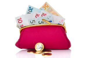 portemonnaie met geld