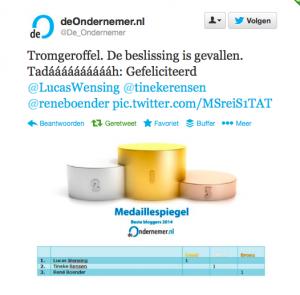 2e plek de ondernemer.nl