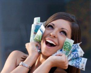 vrouw met geld